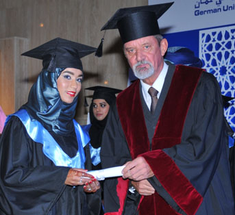 Graduation ceremony at GUTech in Muscat